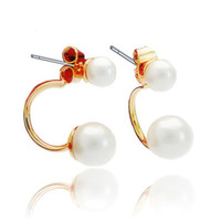 Wholesale Major Suit Star Style Big And Small Pearl Earrings Fashion Jewelry Female Charm Ear Stud