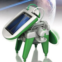 Wholesale 100 in Solar Energy Toy solarGift Solar Car Puppy Plane Airboat Windmill toy