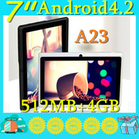 Wholesale DHL A23 Cheap Q88 quot PRO Dual Core Epad Tablet PC Android MB GB NEW HA01
