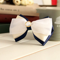 Wholesale A144 Vatican Shanghan Guo Yiwu Korean hair accessories pearl hairpin bow three blue mousse