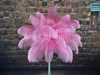 Wholesale quot Light Pink Ostrich Feather Feathers Plume for wedding centerpieces table decoration
