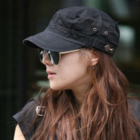 Wholesale 2013 fashion Flat leisure military cap pure color Cadet hats for men hats and caps
