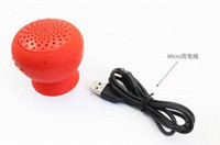 Wholesale Suction cup Speakers Mini Bluetooth Speaker Hands Free Silicone Sucker Waterproof Speaker with Retail Packing Mixed Colors
