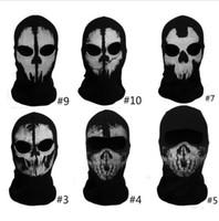 Wholesale Call of Duty Cosplay Balaclava Ghost Skull Face Mask Skateboard Bike Hood game mask