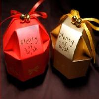 Wholesale New Small Gift Boxes Paper Color Joyful Origami Fitting Candy Bags Wedding Accessories