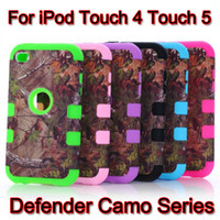 Wholesale Defender Realtree Camo Series Case For iPod Touch Touch5 Touch4 Touch Shock Proof Waterproof Cases Protection