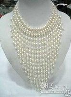 Wholesale Charming New Style Tahitian White Pearls Lady Necklace