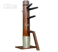 Wholesale LINS Free Installation Fixedpattern Wooden Dummy Muk Yan Chong for Wing Chun Kung Fu practise