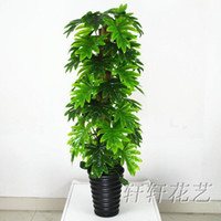 Disposable   Wholesale - Artificial tree large fake tree artificial flower living room decoration green silk flower plants floor bonsai