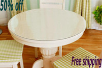 Wholesale SM mm diameter cm round circle custom made crystal plate plastic soft glass PVC table cloths table cover