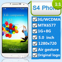 Wholesale NEW S4 G Android smartphone aerial gestures eye tracking inch HD screen MP camera real MTK6577 dual cor