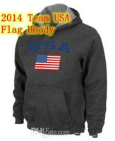 Men olympic flag - 2014 Team USA Olympics USA Flag Pullover Hoodie Deep Grey Brand Name New Style Men s Hoodies High Quality Cheap Fashion Outdoor Sportswear