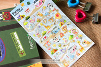 Wholesale Children s stationery new kawaii mame goma waterproof PVC sticker sheets per set dandys