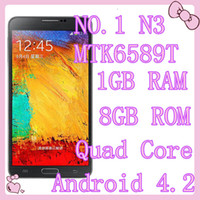 "WCDMA French Android NO.1 N3 Note 3 N9000 MTK6589T Quad Core Android 4.2 Smart Phone 1GB RAM 8GB ROM 5.7"" IPS 1280*720 Camera 13.0MP N9006 N900 NOTE3 1:1"