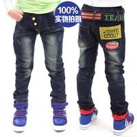 Jeans jeans lot - Boys Jeans Children baby pants Boy s cotton Jeans Cowboy jeans with Belt trousers dandys