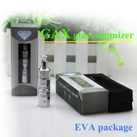 dry herb atomizer - New GAX Pyrex glass atomizer rebuildable atomizer wax dry herb vaporizer pen herbal vaporizer vapor electronic cigarettes kits EGO battery