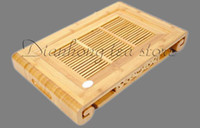 Cheap Wholesale - Tea tray Tea board Tea table * Scroll * Bamboo Gongfu Tea Serving Table Natural color 45cmX27.5cmX6.5cm