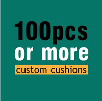 Wholesale 100pcs more High Quality customized cushions Cotton pillow cover Burlap Sofa cover Pillows decorate Cushion cover