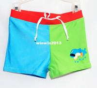 Boy Bikinis 3-6 Months 901112 Free shipping Two Color Children's swimming Trunks Cute children boy child baby cartoon spa beach Boxer Shorts Trunks