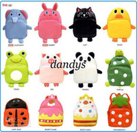 Wholesale Freeshipping children girls boys Lovely Kids Toddler Cartoon Animal Backpack PU Bag Children School Bags