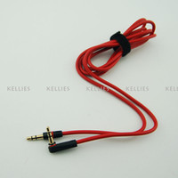 Wholesale 3 mm Replacement Red Cables for Beats Studio Heaphones Regular Normal Extension Audio AUX Male to Male Normal for SOLO MIXR Headsets