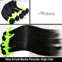 Wholesale Top rated A Unprocessed Virgin Hair Peruvian hair Queen straight hair color1b inches