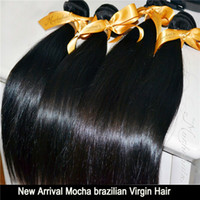 Wholesale Mocha A Unprocessed quot Virgin Brazilian Natural Straight Hair Remy Hair Weave Tangle Free No Shedding