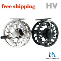 3 Fly Fishing Fly Reel Wholesale - DHL free shipping! Top quality HV 5 6 weight Chinese machine cut large arbor fly fishing reel
