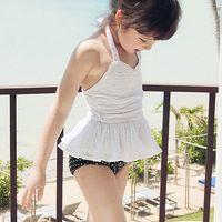 Boy Bikinis 3-6 Months Fashion lace sweet children fission skirt hot spring bathing suits, Girls Kids Swimwear 2014 New pleated skirt+cap 3pcs swimsuit