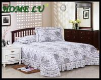 Wholesale NEW quilting patchwork coverlet with two pillowcase Bedspread set printed thick bed linen FSZ118
