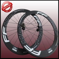 Road Bikes Carbon 12 Inch Wholesale - FFWD F6R 60mm clincher bicycle wheels freewheel Carbon fiber road and racing cycling wheelset