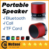 Wholesale New Super Bass Mini Portable BeatBox Bluetooth Wireless Speaker Slot Handfree Mic Stereo Portable Speakers TF Card Call Function Free Ship