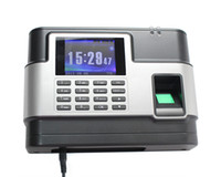 Wholesale Fingerprint Time Attendance System Inch LCD Monitor F3000A USB Flash Drive Download LAN Port Personal Record Query