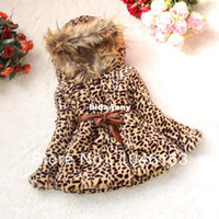 Wholesale Retail New Fashion Girls Coat one color Leopard Baby Clothes For Christmas Children s Wear And Garment