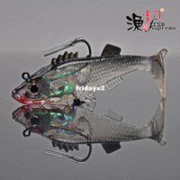Wholesale Head hook fishing lures soft bait fish software package Lead Fish Lure fishing simulator black color