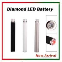 Wholesale Ce4 Crystal Atomizer - eGo Automatic Battery with Bottom Crystal Diamond LED 650mAh 900mAh 1100mAh E Cig Battery for EGO 510 Thread Atomizers CE4 CE5 CE6 VIVI NOVA