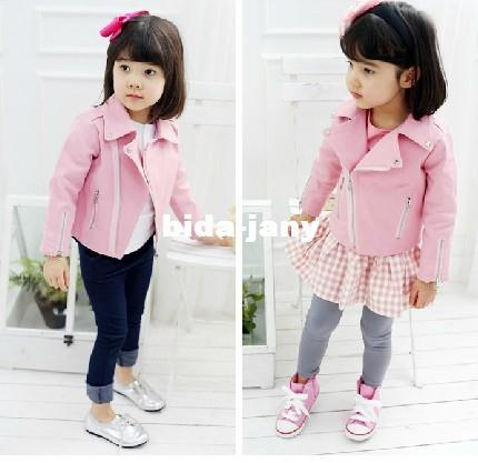 Newest Autumn Baby Girl&39S Blazer /Pink Leather Clothing Kids