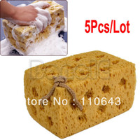 Wholesale 5pcs New Practical Yellow Car Vehicle Cleaning Washing Cuboid Coral Car Cleaning Sponge