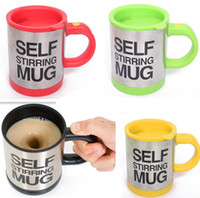 Wholesale Automatic Coffee Mixing Cup Mug Bluw Stainless Steel Self Stirring Electic Coffee Mug ml youmyelectec1688