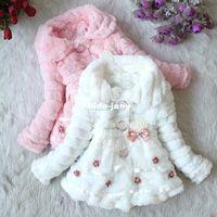 Wholesale Toddlers Girls Junoesque Baby Faux Fur Fleece Lined Coat Kids Winter Warm Jacket