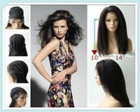 Wholesale UPS Free RaniReal Images B off Black quot quot quot quot Kinky Straight Brazilian Human Hair Glueless Front Lace Wigs IC15