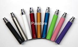EGO Batería para cigarrillo electrónico E-cig ego-T 510 de rosca partido CE4 CE5 atomizador Clearomizer CE6 650mAh 900mAh 1100mAh 9 colores