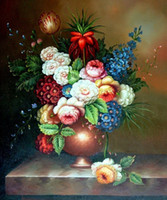 Oil Painting classical painting - Classical Flowers Hand Painted Wall Decor Dinning Room Painting M