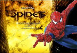 110x90cm (44x35in) Большой Человек-паук Мальчик номер Art Mural Наклейки на стены стикеры Peel Стик MYY8826