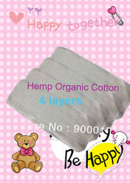Baby Hemp Organic cotton 20pcs 4 Layers Washable Baby Cloth Diaper Nappy inserts