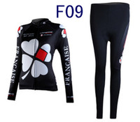 Wholesale 2014 cool style Francaise black rapha cycling long sleeve women bike clothing outdoor road wear good quality