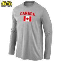Ice Hockey Men Full Newest Light Grey Hockey T-Shirts 2014 Olympics Flag Hockey T-Shirts Mens Jerseys Sportswear Many Colors Allow Mix Order Cheap Shirts