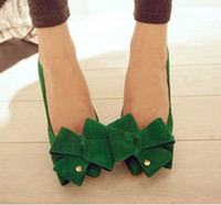 Women other other 2014 spring green bow princess high-heeled shoes pointed toe single shoes female