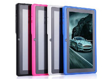 Wholesale 7 MID Q88 Children Educational Tablet PC kids Pad Android A13 Capacitive Screen M GB Dual camera Learning Machine gift for kids