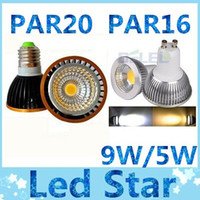 COB 5W 9W 220V High Bright COB PAR20 PAR16 E27 E26 Led 5W 9W lights Dimmable GU10 led spot bulbs light warm cool white 110V 220V + 2 years warranty